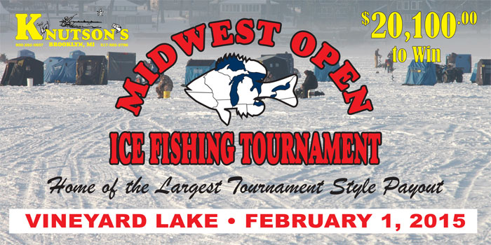 Midwest Open Fishing Tournament - February 1, 2015 on Vineyard Lake